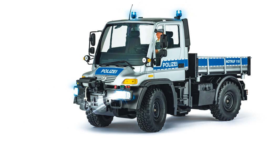 mercedes benz unimog u300 polizei 2 4 ghz 100 rtr 1 12. Black Bedroom Furniture Sets. Home Design Ideas