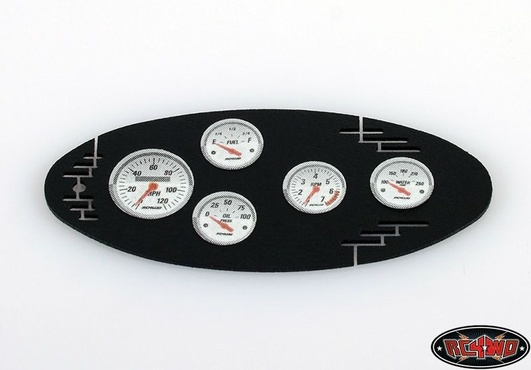 1/10 Black Instrument Panel with Instrument Decal Sheet (Sty
