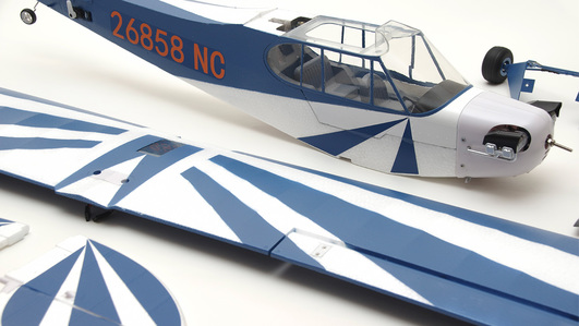 Arrows Piper J3 Cub 1100mm Elektromotor Hochdecker PUP powered by MODSTER