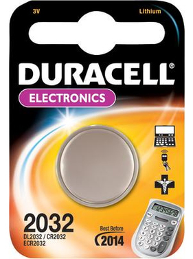 Batterie Knopfzelle Duracell 2032