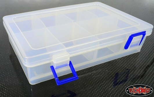 Clear Plastic Parts Bin with Removable Dividers