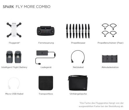 "DJI Spark Fly More Combo Mini-Quadcopter ""Alpinweiß"""