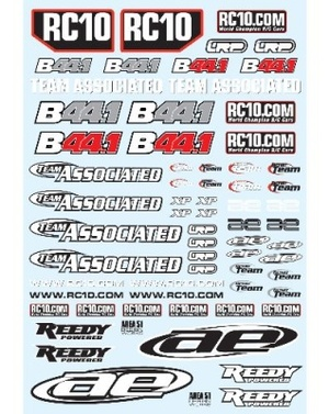 Decals TEAM ASSOCIATED B44.1 SPECIAL 2012