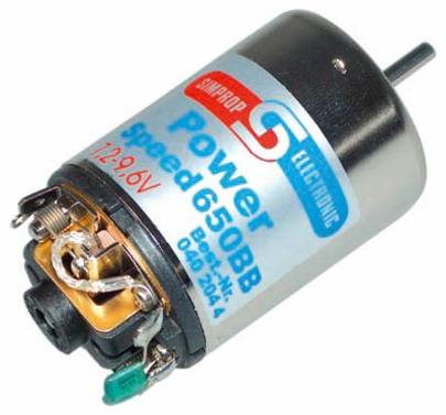 Elektromotor Power Speed 650BB 7,2 Volt Simprop