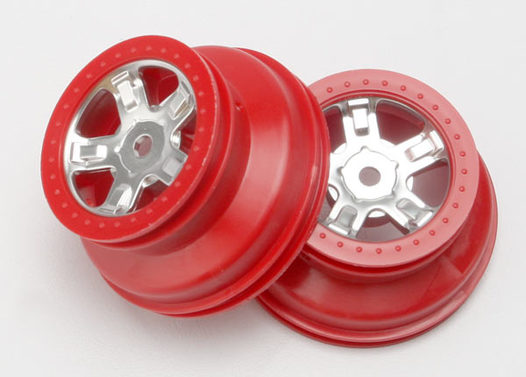 Felgen SCT satin chrome red beadlock style dual profile (2)