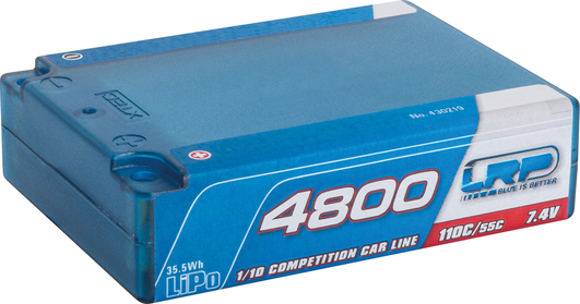 LiPo Pack LRP 4800mAh 7.4V Square Pack 110C/55C Competition