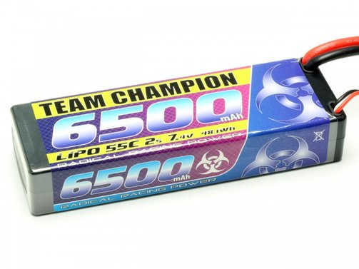 Lipo Pack Team Champion 6500 mAh 7,4V 55C (Deans T)
