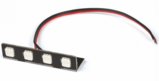 RACE COPTER ALPHA 250Q Hintere rote LED PCB