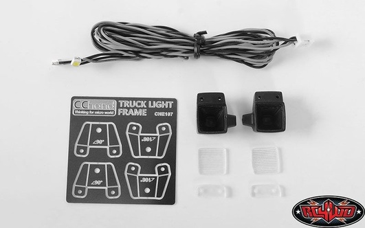 Square Work Lights for MB Arocs 3348 6x4 Tipper Truck