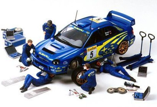 Tamiya 1:24 Figuren-Set Rally Mechaniker (5)
