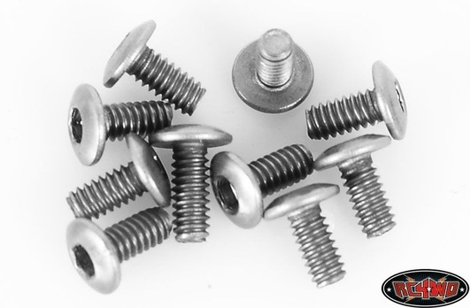 Titanium Button Head Cap Screws M2 x 4mm (10)