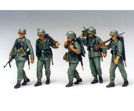 WWII Fig.-Set MG-Trupp i.Manöver (5) 1:35