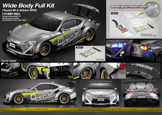 Wide Body Full Kit Nr 2 für Toyota 86 & Subaru BRZ