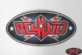 Monster Size RC4WD Logo Decal (Red)