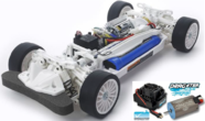 Tamiya 1/10 TT-02 Chassis Kit White Special inkl. Brushless Set 10T Waterproof